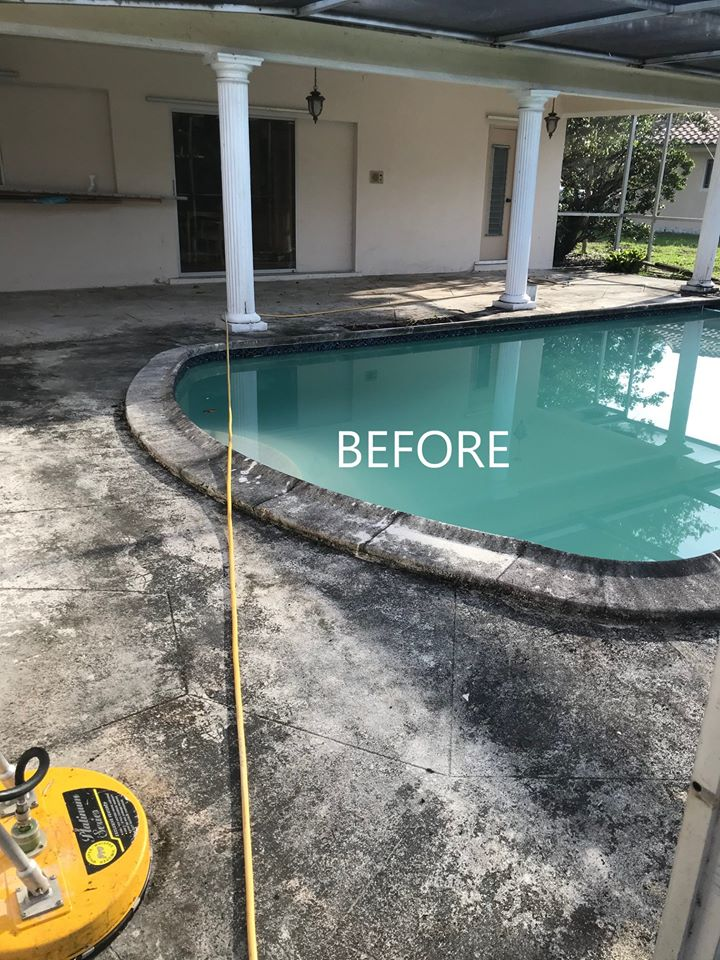 Residential Pressure Cleaning Before Image